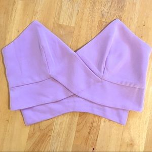 🚨FINAL🚨 TOBI Lilac Strapless Top with Back Zip